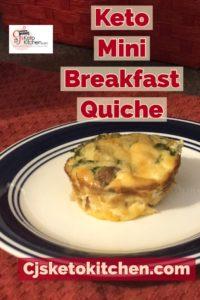 CjsKetoKitchen Keto Mini Breakfast Quiche Pinterest Pin