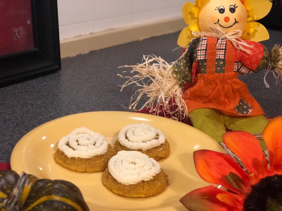 Keto Pumpkin Spice Cookies, Sugar Free