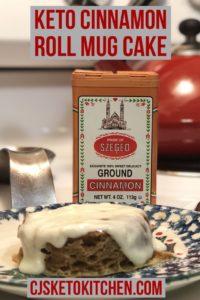 Delicious Keto Cinnamon Roll Mug Cake