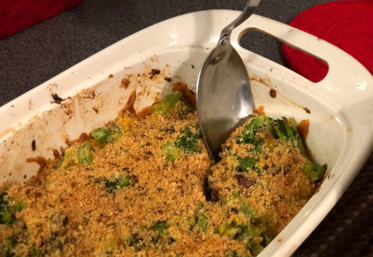 Keto Bacon Broccoli Casserole
