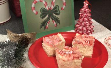 Delicious Keto Candy Cane Cheesecake Bars