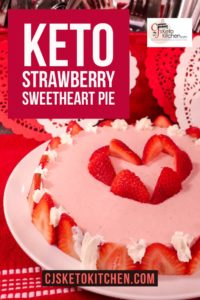 Keto Strawberry Sweethear Pie