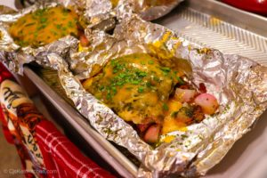 Keto Chicken Bacon Ranch Foil Packets