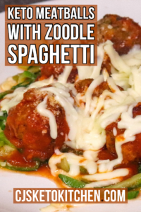 Keto Meatballs and Zoodles Spaghetti