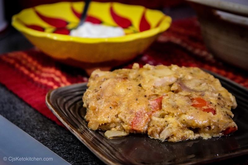 Delicious Keto Chicken Fajitas Casserole