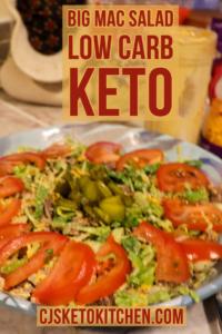 Delicious Keto Big Mac Salad