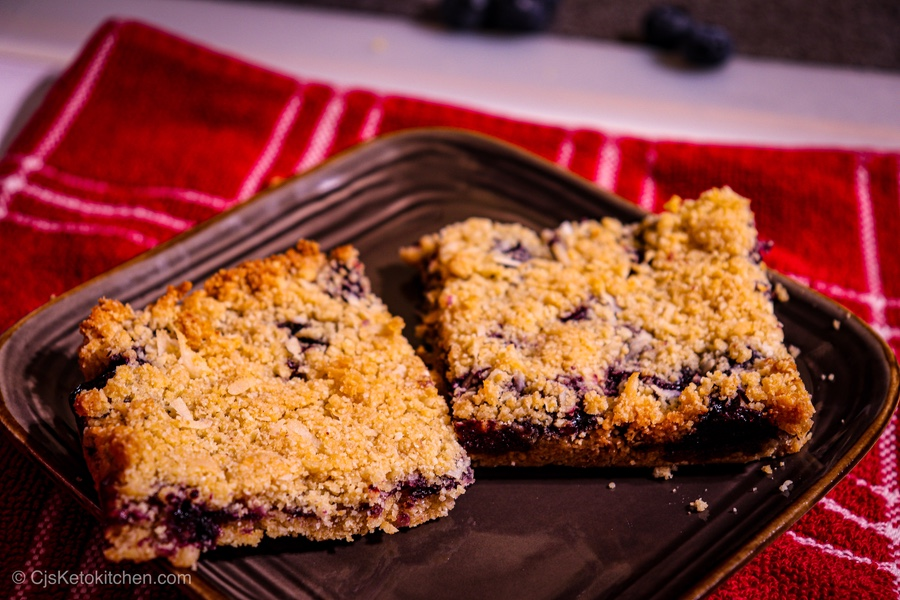 Keto Blueberry Crumble Bars – Great for Breakfast