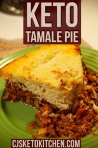Pinterest Pin - Keto Tamale Pie