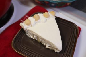 Delicious Keto Macadamia Nut Cream Pie