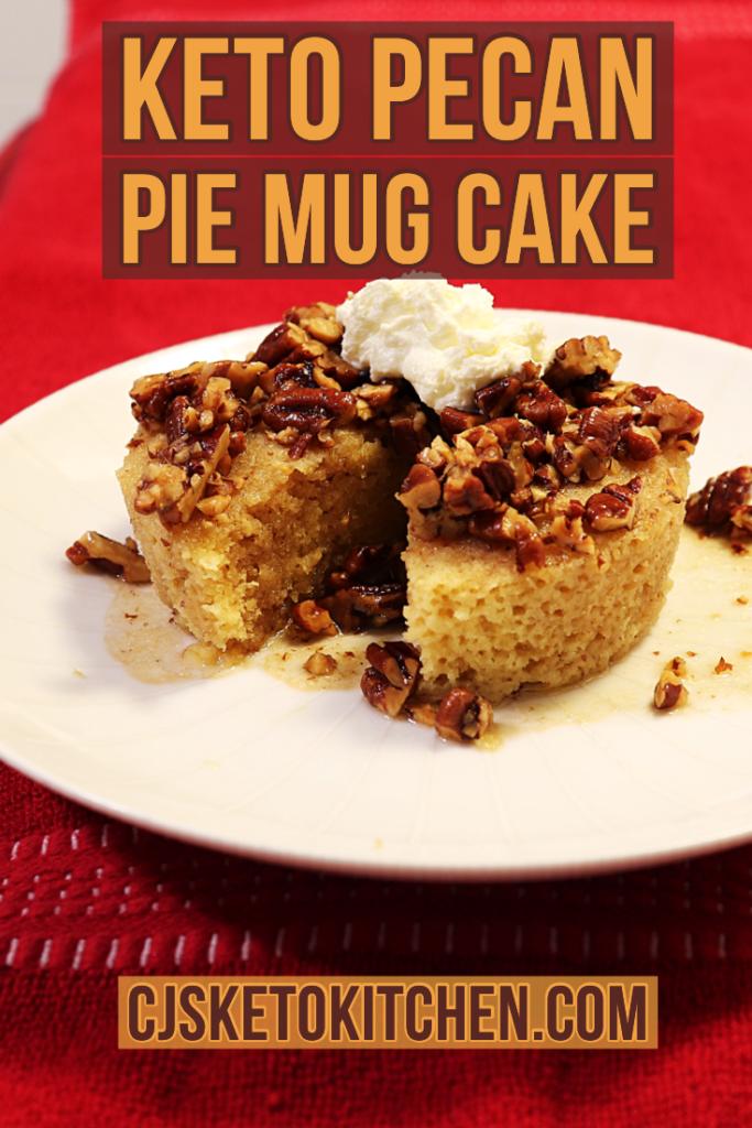 Keto Pecan Pie Mug Cake