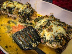 Keto Spinach Artichoke Chicken Bake with Bacon