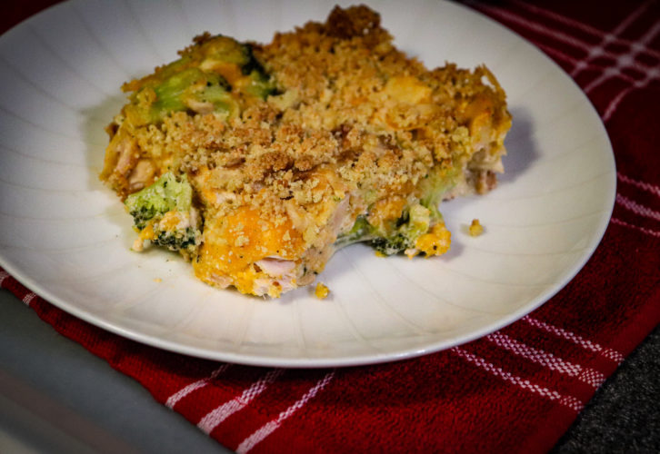 Keto Creamy Chicken and Broccoli Casserole