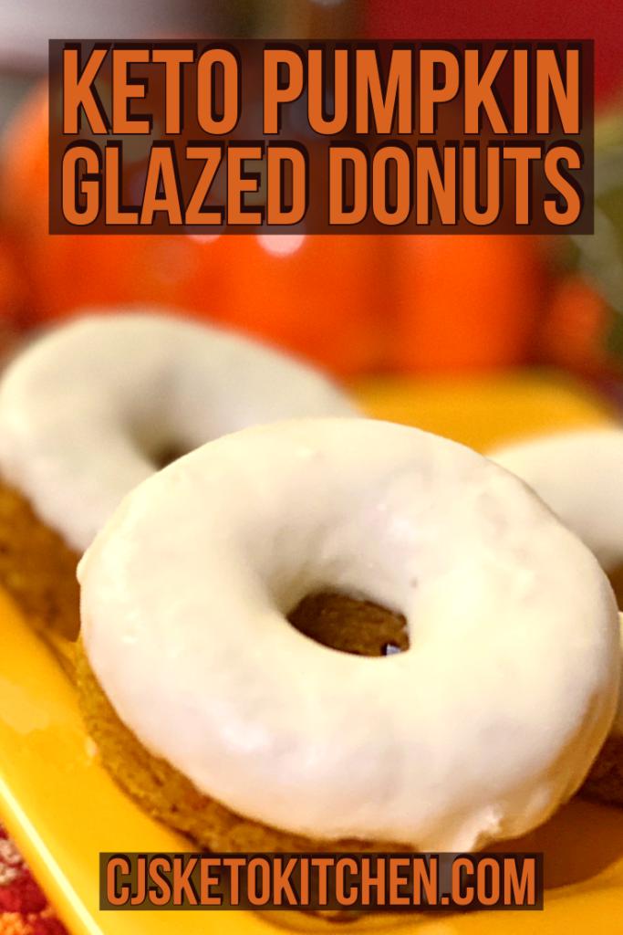 Keto Pumpkin Glazed Donuts
