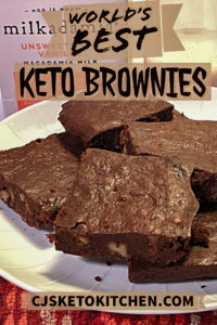 Keto Brownies Pinterest Pin