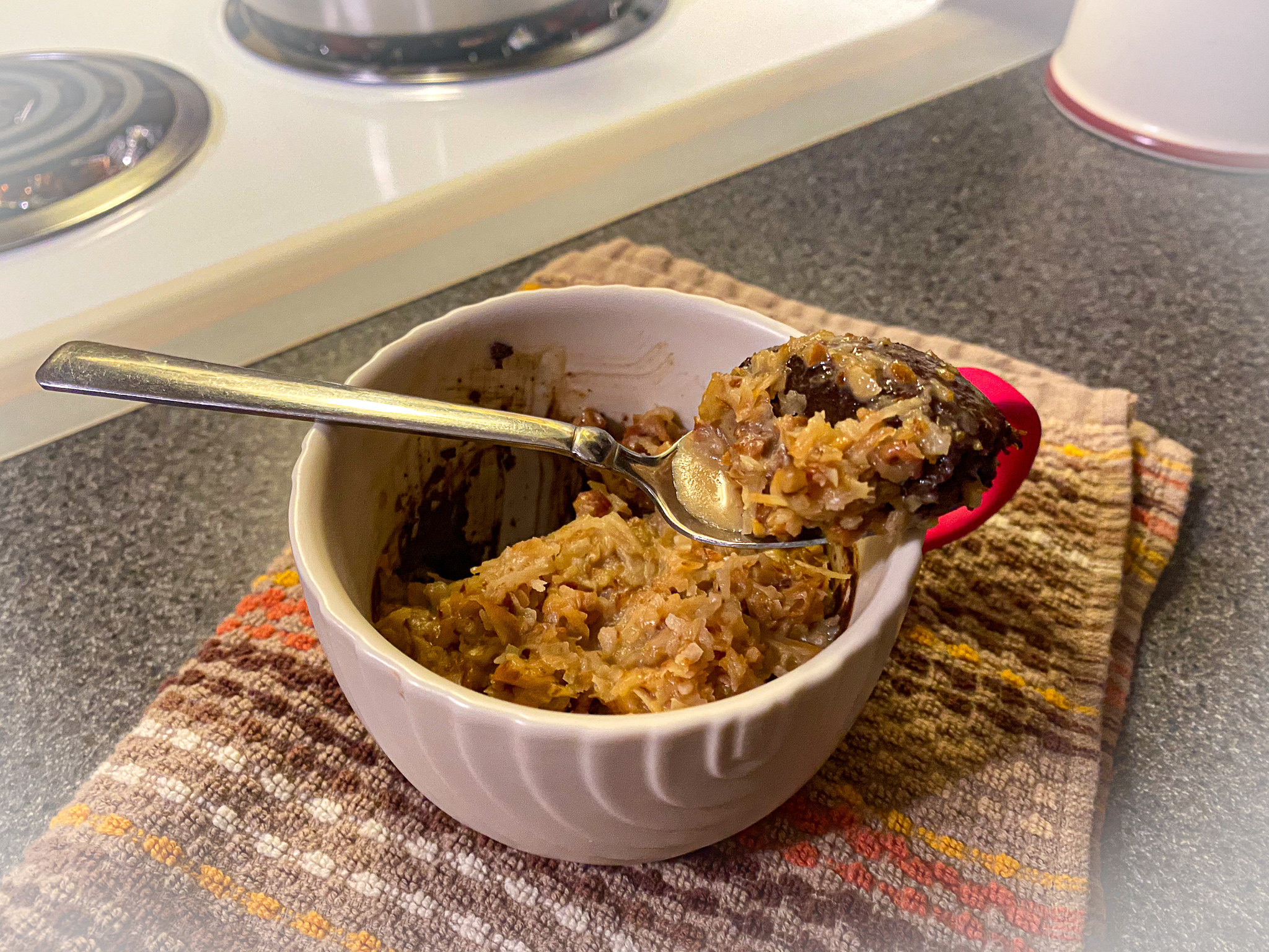 Keto German Chocolate Mug Cake