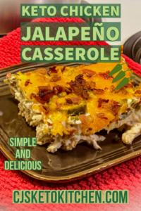 Keto Chicken Jalapeño Poppers Casserole