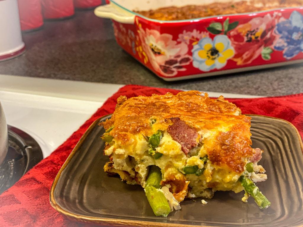 Cheesy Ham and Asparagus Bake