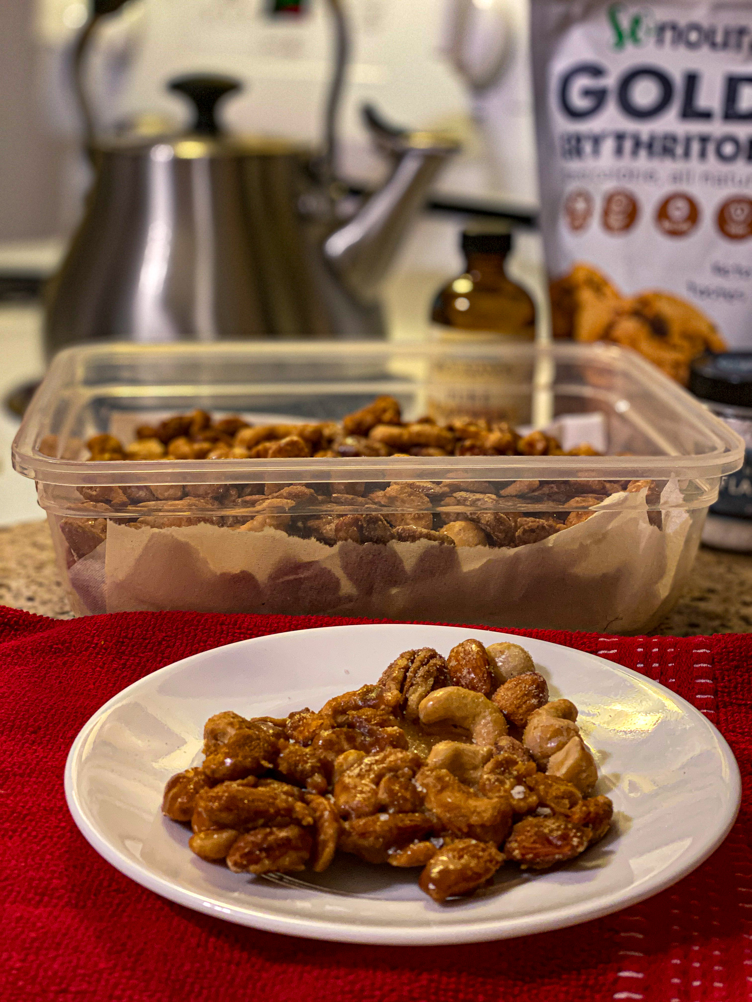 Keto Salted Caramel Nut Brittle