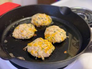 Keto Cheesy Chicken Fritters