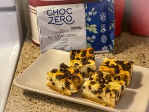 Keto Chocolate Chip Cheesecake Bars