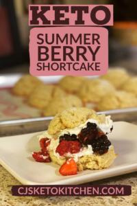 Keto Summer Berry Short Cake