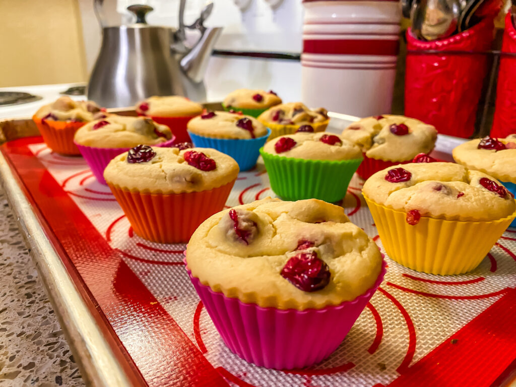 Keto Orange Cranberry Muffins