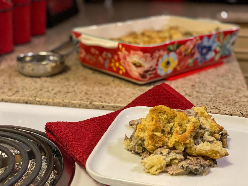 Keto Turkey Biscuit Casserole - The Gobbler Cobbler!