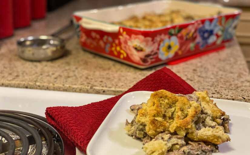 Keto Turkey Biscuit Casserole – The Gobbler Cobbler!