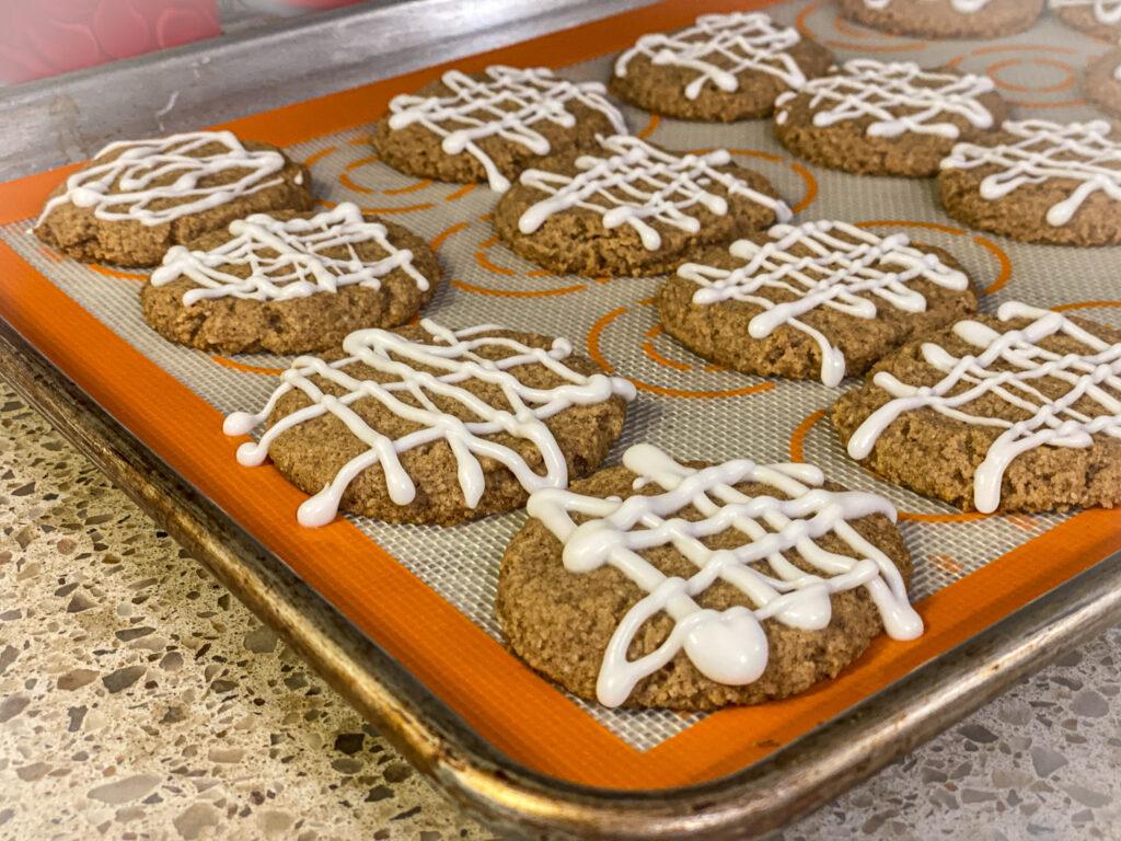 Keto Iced Gingerbread Cookies