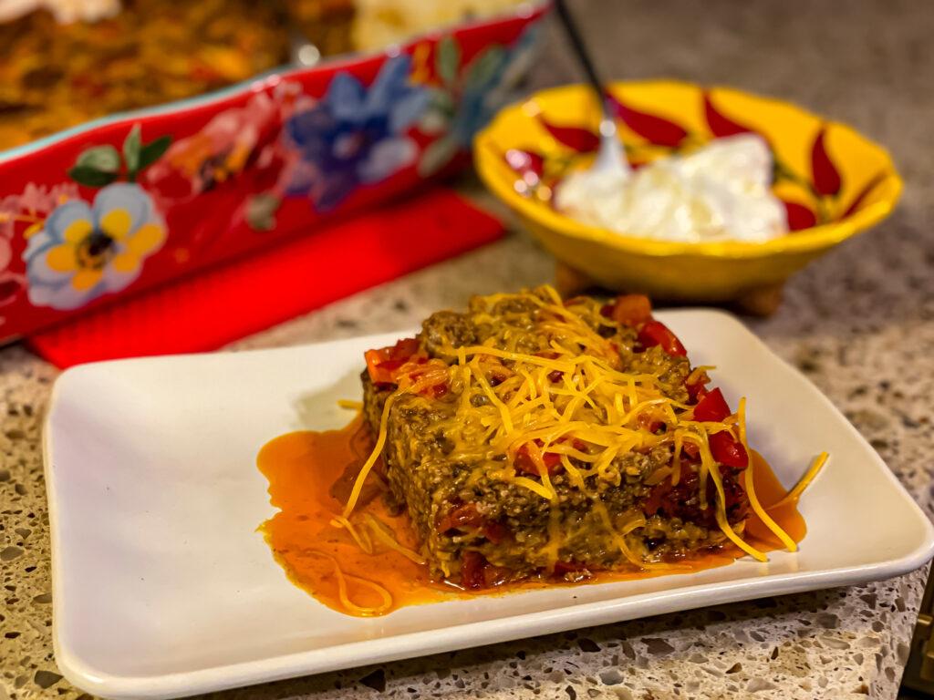 Keto Taco Stuffed Pepper Casserole