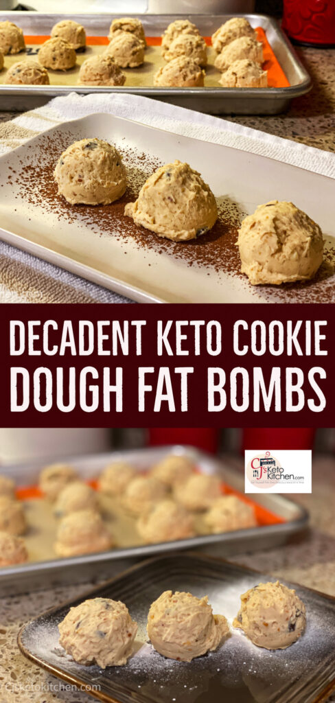 Decadent Keto Cookie Dough Fat Bombs
