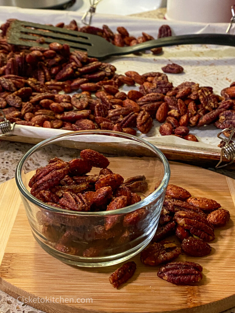 sweet & salty party nuts