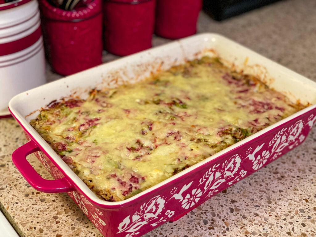 cabbage & corned beef casserole