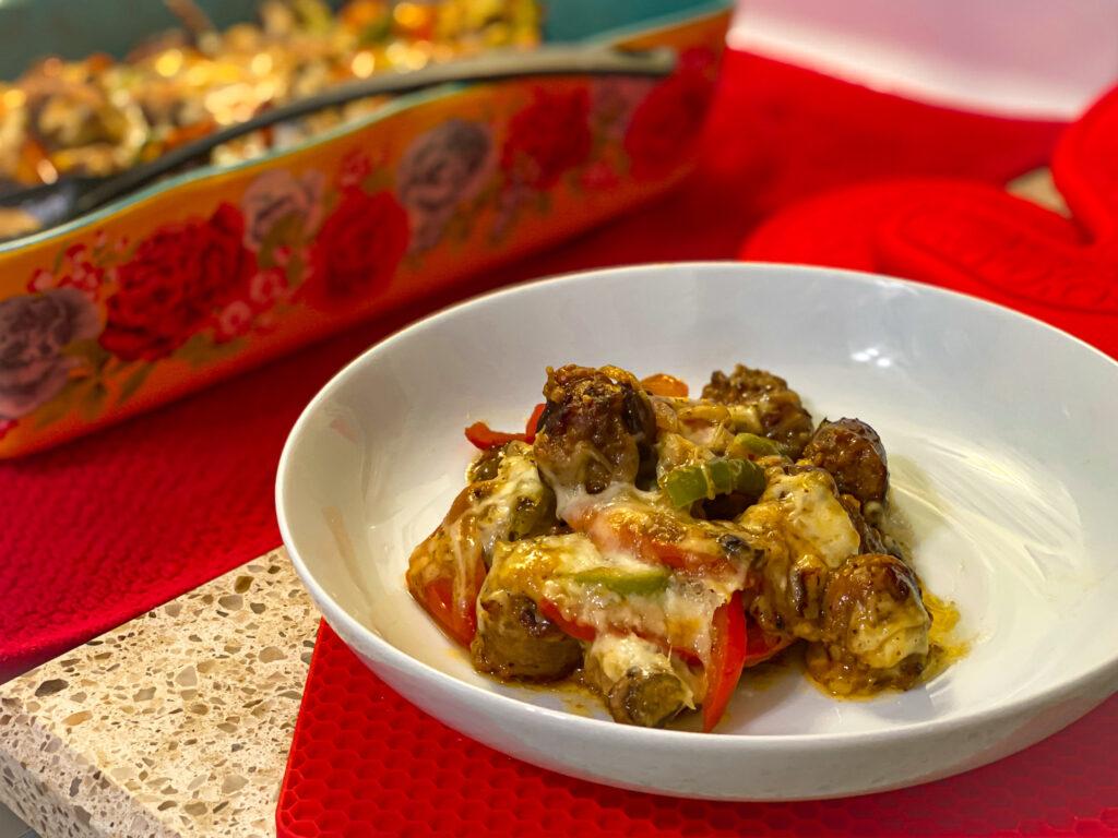 sausage & peppers casserole