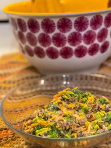 Keto Bacon broccoli salad